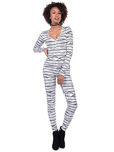 Tipsy Elves Women's Mummy Halloween Costume Body Suit: Large White