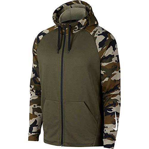 Nike Men's Full-Zip Training Hoodie (Size: Large) AQ1138-395 Olive Green - -