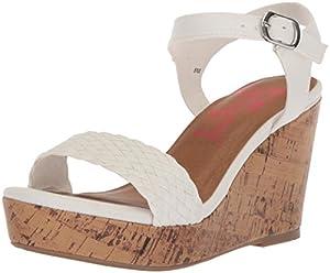 upc 885044639474 product image for Jellypop Women's Mozart Wedge Sandal White 8 Medium US | barcodespider.com