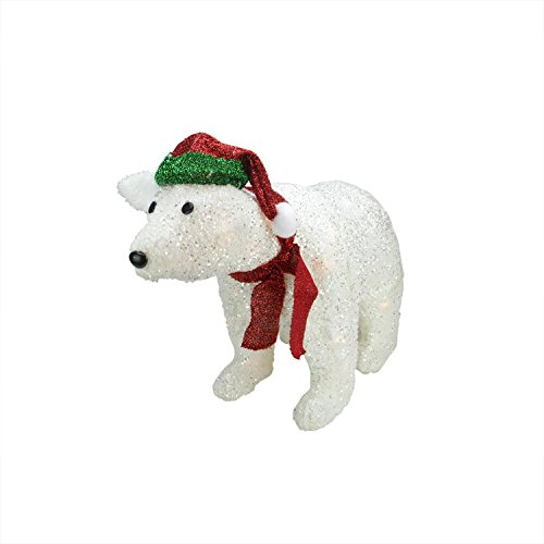 Outdoor Lighted Polar Bear Decorations - 7