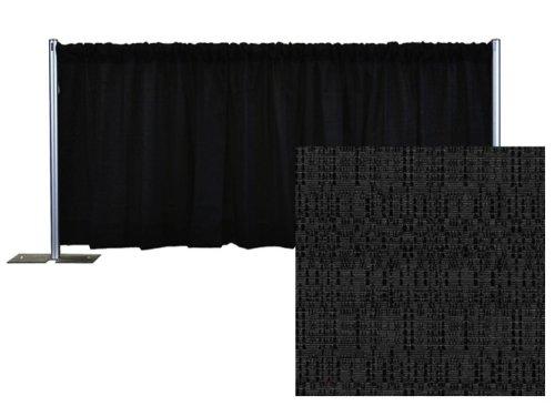 Pipe and Drape Banjo Backdrop Kit 3 ft. x 10 ft. - Black by P.D.O.