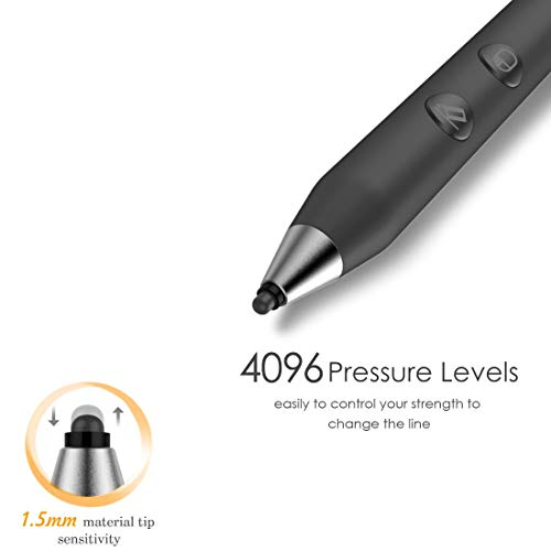 Microsoft Certified Rechargeable Surface Stylus Pens Supporting 500-Hour Working 180-Day Standby Built-in Battery Active Touchsreen Pen 4096 Pressure Sensitivity Surface Pro 3/4/Laptop/Book/Studio by Heiyo (Image #1)