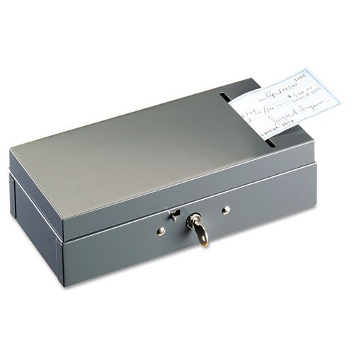 Steel Bond Box with Check Slot, Disc Lock, Gray, Sold as 1 Each