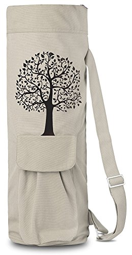 BalanceFrom BFGYFM6IV Goyoga Full Zip Exercise Yoga Mat Bag with
