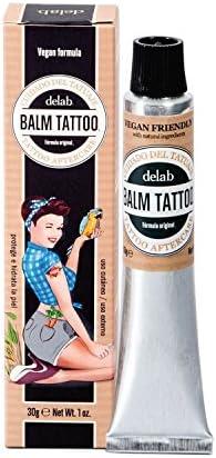 BALM TATTOO - Crema Vegana para Tatuajes - Crema Vegana Balm Tattoo - Tattoo Aftercare - Protege e Hidrata la Piel - Sin Parabenos, Perfumes ni Siliconas - 100% Libre de Crueldad - 30 gr