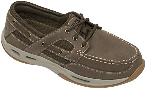rugged shark Monroe Comfort Boat Shoe With Drainage System