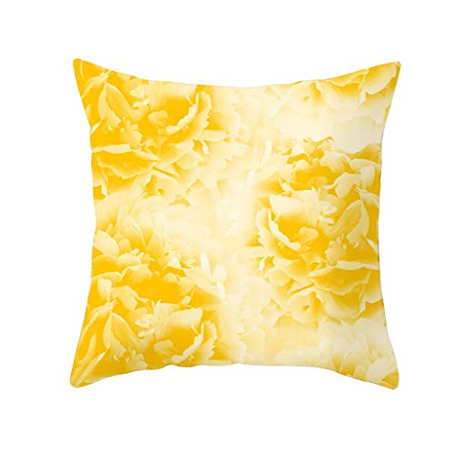 OrchidAmor Yellow Polyester Pillow Case Sofa Car Waist Throw Cushion Cover Home Decoration 2019]()