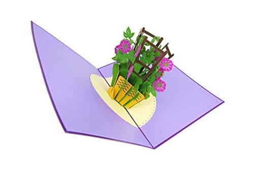 Lavender Flower 3D Pop Up Card with envelope-Unique Pop Up Greeting Cards for Mother/'s Day Graduation Anniversary May Day Valentine Wedding Birthday Thank You, Spring