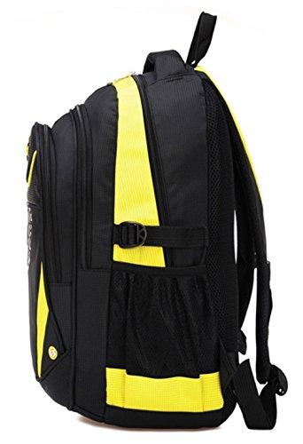 Keshi Nylon neuer Stil Schulrucksäcke/Rucksack Damen/Mädchen Vintage Schule Rucksäcke mit Moderner Streifen für Teens Jungen Studenten Grün