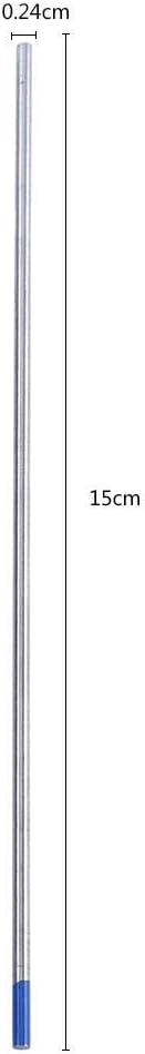 1.0 * 150mm 10 blu testa 2/% tantalio tungsteno elettrodo tungsteno tungsteno ago strumento set 1.0//1.6//2.4mm