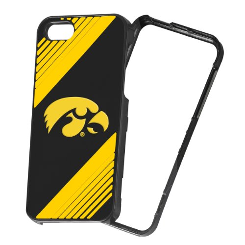 Forever Collectibles NCAA 2-Piece Snap-On iPhone 5/5S Polycarbonate Case - Retail Packaging - Iowa Hawkeyes ()