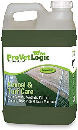 ProVetLogic Kennel & Turf Care- Floor Cleaner, Synthetic Pet Turf Cleaner, Deodorizer & Drain Maintainer (Concentrated)- 2.5 Gallon