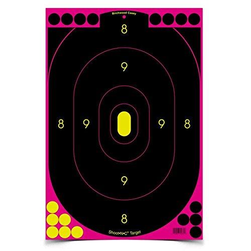 Birchwood Casey Shoot-N-C Pink 12x18 Silhouette Target - Shoot C N Target 12