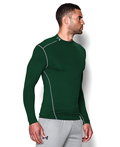 Under Armour Men's ColdGear Armour Compression Mock Long Sleeve Shirt, Forest Green /Steel, XXX-Large by Under Armour (Image #2)