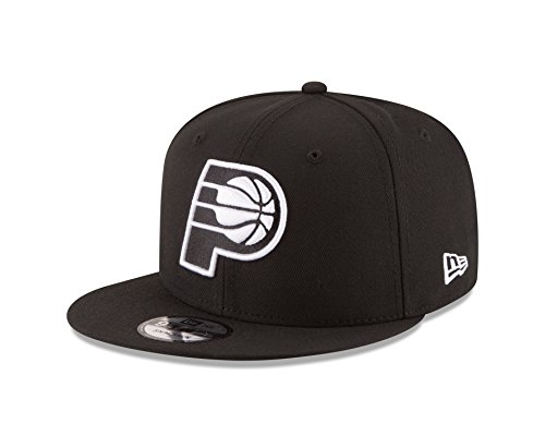 Indiana Pacers Cap - New Era NBA Indiana Pacers Men's 9Fifty Snapback Cap, One Size, Black