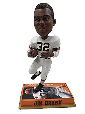 NFL Cleveland Browns Brown J. #32 Retired Player Bobble Sports Fan Home Decor, Orange, One Size