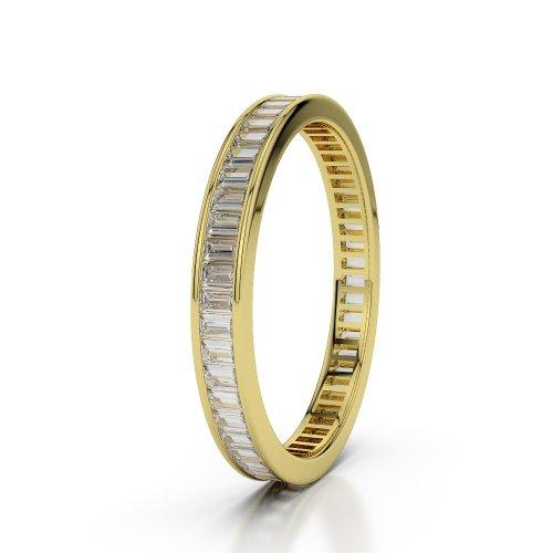 Or jaune 18carats 1.56CT G-H/VS sertie de diamants ronds Cut éternité Bague Agdr-1138