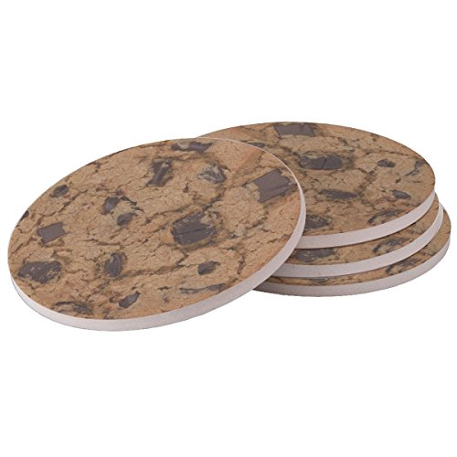 (Chocolate Chip Cookie - Sandstone Drink Coaster (set of 4 coasters))