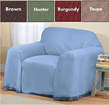 Furniture Throw Covers With Non Skid Backing (Brown, Chair (70u0026quot; ...