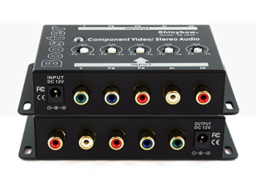 - Shinybow Component 5-RCA Video + Stereo Analog Audio Booster Extender Amplifier SB-2820