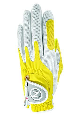 Yellow Womens Golf Glove - Zero Friction Women's Universal Fit Golf Glove, Yellow, Left Hand, One Size
