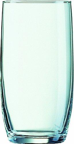 Arcoroc 33027 Wasser-/Saft Gläser Baril 250 ml, Füllstrich bei 200 ml, 12 Stück