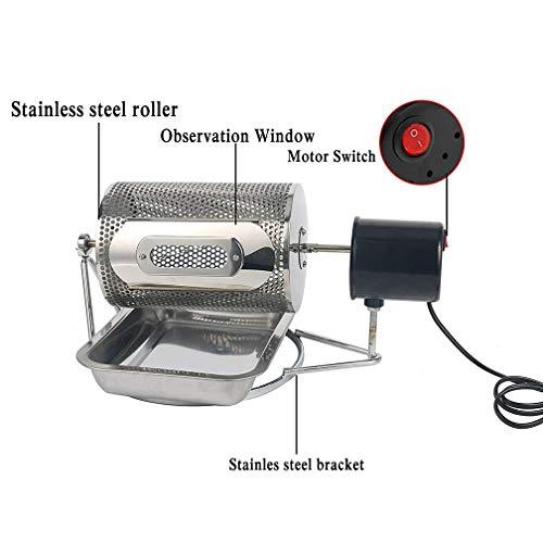 HRRH Tostador de café, Máquina para tostar Granos de café de Uso en el hogar 40w, Cacahuetes de máquina de Tostado de Granos de café de Acero Inoxidable, ...