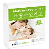 Boealzhl Waterproof Mattress Protector Queen Size - Soft Breathable Cotton Mattress Cover - Noiseless and Hypoallergenic - Vinyl Free,15 Years Warranty