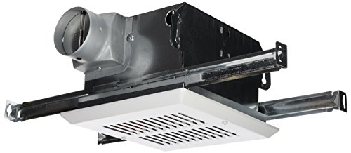 Air King FRAS60 Fire-Rated Exhaust Bath Fan with 60-CFM and 4.5-Sones, White Finish