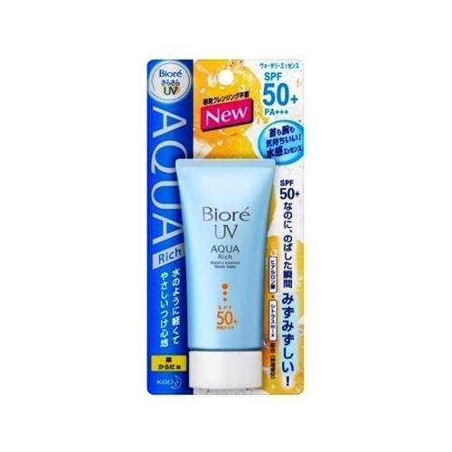 Kao Biore Japan Aqua Rich Watery Essence Sunblock Sunscreen Blue Spf50+ Pa+++