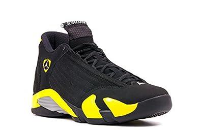quality design e6df2 f143f Max Jordan 14 Retro Thunder Black   Yellow Shoe (8.5 UK M 27.5 ...