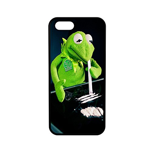 Kermit The Frog on Cocaine Protective Rubber Phone Case (iPhone 5/5s/se)