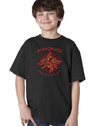 PROUD FIREFIGHTER'S SON Youth T-shirt / Fire Fighter & Rescue Family Pride Tee