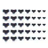 Delaman 35Pcs OD 4/6/8/10/12/14/16 / 16mm Conector Neumático de Manguera de Air, Conector de Unión de 3 Vías en Forma de T Conexiones Rápidas