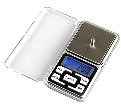 Mini balanza de precisión de 0.01 Hasta 200 gramos, báscula de cocina, funda –