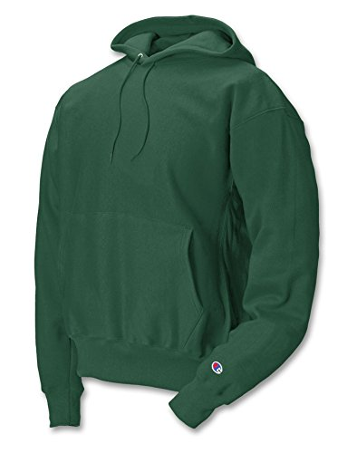 s101-champion-adult-reverse-weave-hooded-pullover-fleece-dark-green-large