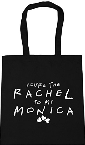 the 10 litres Gym You're 42cm Shopping Rachel to Monica HippoWarehouse Black Bag Tote my x38cm Beach 5TqpO8w6n