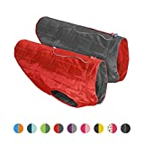 Kurgo Loft Jacket, Reversible Dog Coat, Dog Coat for Cold Weather, Water-Resistant Dog Jacket with Reflective Trim, Red/Grey, X-Large