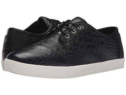(TOMS Men's Black Full Grain Croc Embossed Leather Paseo 10006999 (Size: 12D))