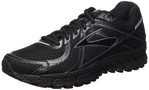 Brooks Men's Adrenaline GTS 16 Black/Anthracite Sneaker 10 (Best Running Shoes For Obese)