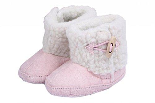 Smile YKK Baby-Mädchen Winter Krabbelschuhe Lauflernschuhe 13 Hellblau Pink