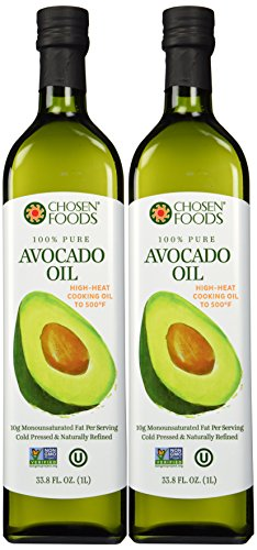 Chosen Foods 100% Pure Hand-crafted Avocado Oil (33.8-oz Bottle) Pack of 2