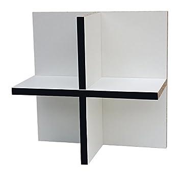 Anna CD Regal (flache Ausführung) für Ikea Kallax Expedit (weiß mit ...