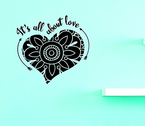 Design with Vinyl Top Selling Decals Its All About Love Wall Art 12