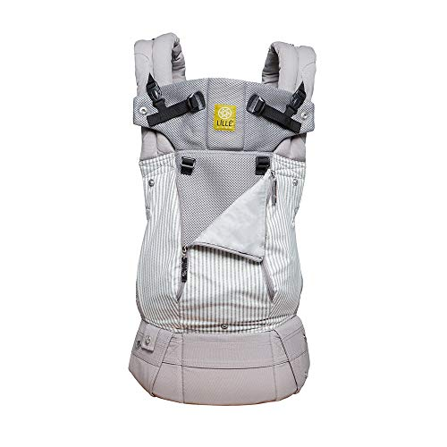LÍLLÉbaby The Complete All Seasons SIX-Position 360 Ergonomic Baby & Child Carrier, Silver Lining - Cotton Baby Carrier, Comfortable and Ergonomic, Multi-Position Carrying for Infants Babies Toddlers