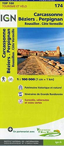 IGN Carcassonne Béziers Perpignan 1 : 100 000: TOP 100 Tourisme et Vélo / Roussillon, Côte Vermeille Top 100 Tourisme et découverte: Amazon.es: IGN: Libros en idiomas extranjeros