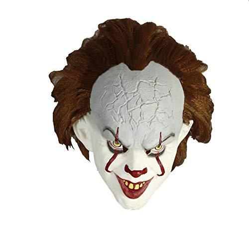 Moniku Halloween Classic Horror Clown Mask Faux Fur Masks