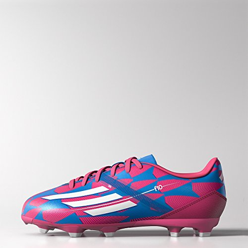 adidas F10 FG Junior Soccer Cleat, Pink/Blue