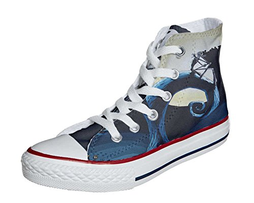 Converse All Star Customized - zapatos personalizados (Producto Artesano) abstract art