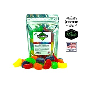 Premium Hemp Gummies – Assorted Fruit Slices – 1000 mg per Bag – 30ct Slices – 50mg per Gummy – Organic Hemp + MCT – 0% THC – Relief for Stress, Pain, Inflammation, Anxiety, Depression, Nausea